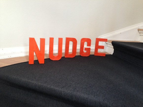 Nudge på trappen i House of Innovation