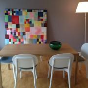 Maleri til forstanderkontor udført af kunstner efter farveanvisninger svarende til rummets farver