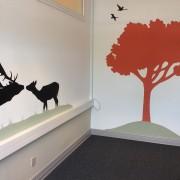 Samtalerum Jobcenter - kyssende hjorte