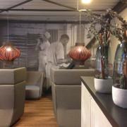 Cafémiljø Easyfood - vægudsmykning skabt ud fra original foto fra gammelt bageri