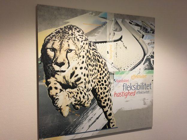 Geparden symboliserer agilitet på fremdriftsetagen hos Easyfood
