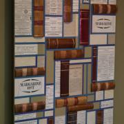 Vægudsmykning af lovbøger hos advokatfirmaet Buch & Baruah