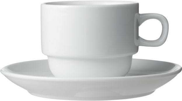 Hvid kaffekop