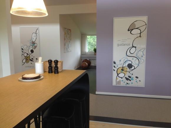 Jacobsen Pharma - kig fra køkken - vægdesign