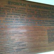 Bygholm Landbrugsskole tavle
