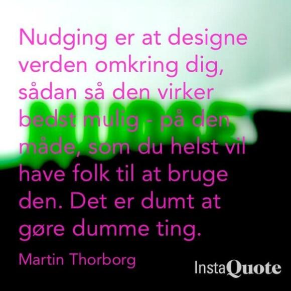 Thorborg citat om nudging