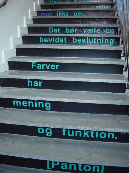 Citat på trappe