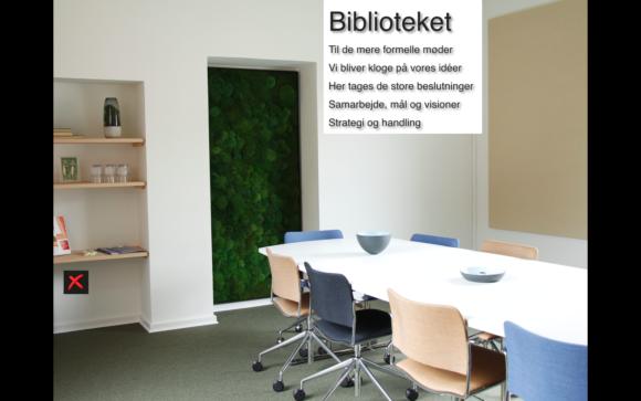 Mødelokale Biblioteket Vega Salmon - Bettina Therese Indretning