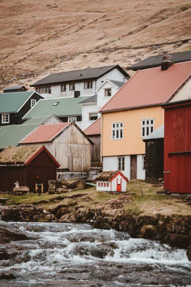 Farverige huse